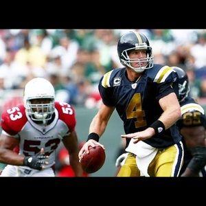 the best attitude ae01a f11e6 Ny Jets/Titans Throwback Brett Favre Jersey, Sz Lg